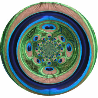 Abstract Peacock Ornament Photo Sculpture Decoration