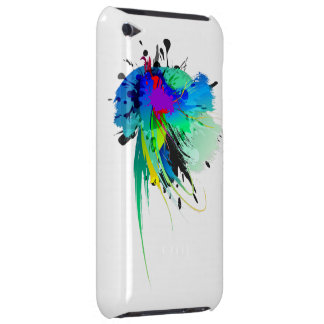 Abstract Peacock Paint Splatters iPod Touch Cover