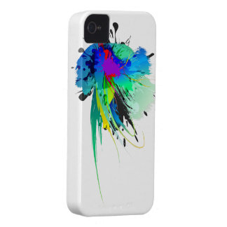 Abstract Peacock Paint Splatters Blackberry Cases