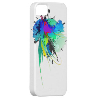 Abstract Peacock Paint Splatters iPhone 5 Case
