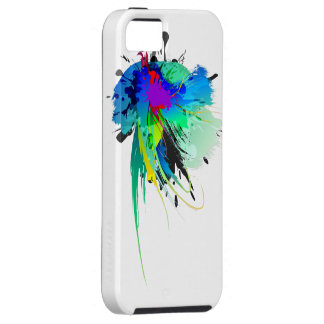 Abstract Peacock Paint Splatters Tough iPhone 5 Case