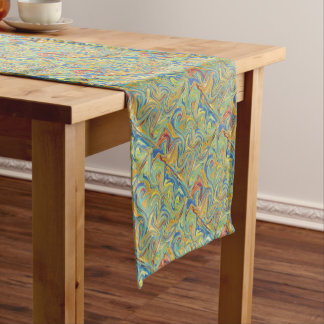 Abstract Pebbles Short Table Runner