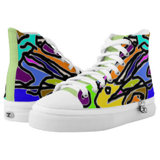 Abstract Pelicans Printed Shoes