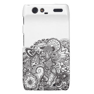 Abstract pen and ink doodle motorola droid RAZR cases