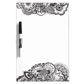 Abstract pen and ink doodle Dry-Erase board