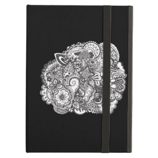 Abstract pen and ink doodle iPad cases