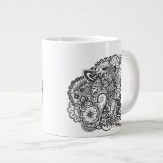 Abstract pen and ink doodle jumbo mug