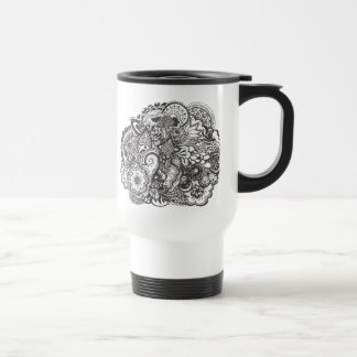 Abstract pen and ink doodle mug