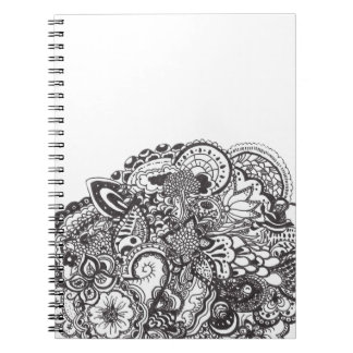 Abstract pen and ink doodle notebook