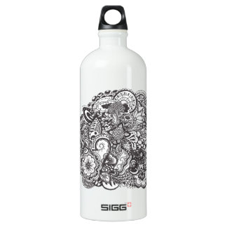 Abstract pen and ink doodle SIGG traveller 1.0L water bottle