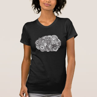 Abstract pen and ink doodle shirts