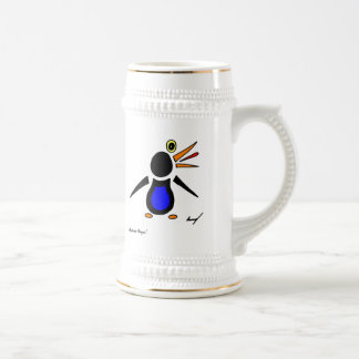 Abstract Penguin Stein Coffee Mugs