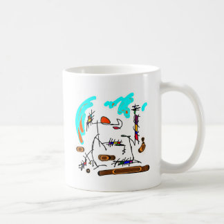 abstract person coffee mug