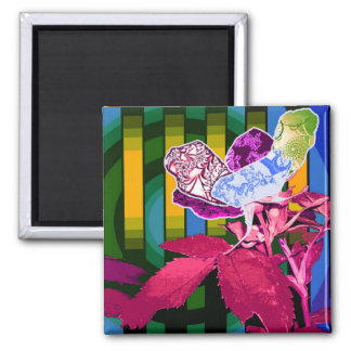 Abstract Perspective Square Magnet
