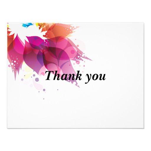 Abstract Petals Thank you Card