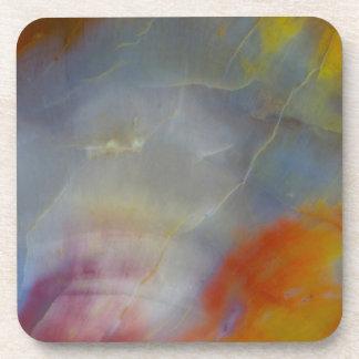Abstract Petrified Wood close-up Coaster