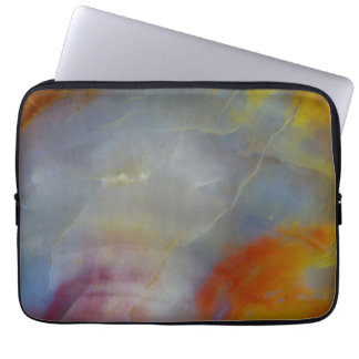Abstract Petrified Wood close-up Laptop Sleeve
