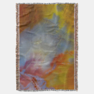 Abstract Petrified Wood close-up Throw Blanket