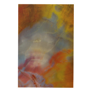 Abstract Petrified Wood close-up Wood Print