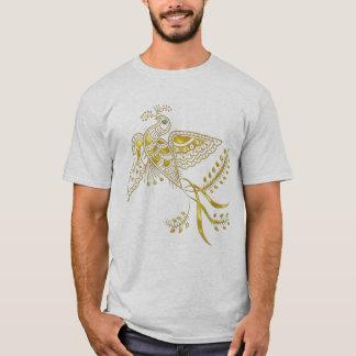 Abstract Phoenix Bird In Gold Tones T-Shirt