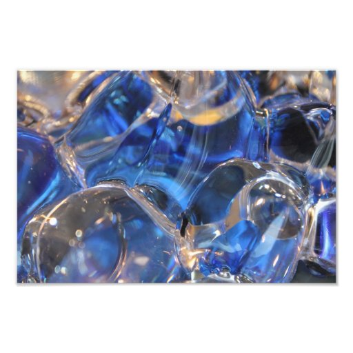 Abstract Photo Image, Blue Glass