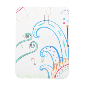 Abstract photo magnet