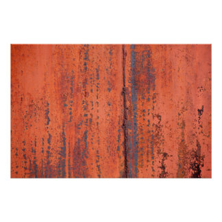Abstract Photo of Painted Rusted Metal Poster