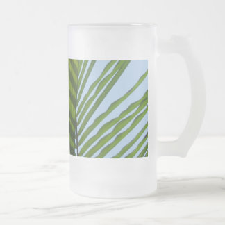 Abstract Photography Green Leaf Frosted Beer Mug