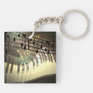 Abstract Piano Keychain