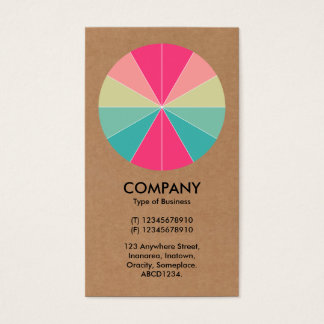 Abstract Pie 01 - Cardboard Business Card