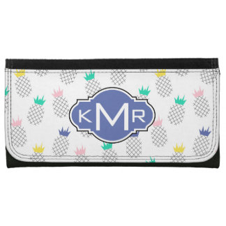 Abstract Pineapples | Monogram Wallet