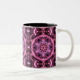 Abstract Pink and Blue Fractal Mug