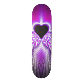 Abstract Pink and Purple Fractal Pattern Skate Board