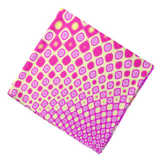 Abstract Pink And White Pattern Bandanas