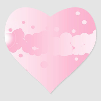 Abstract Pink Background Heart Sticker