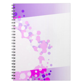 Abstract Pink Background Notebooks