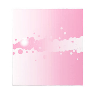 Abstract Pink Background Notepad
