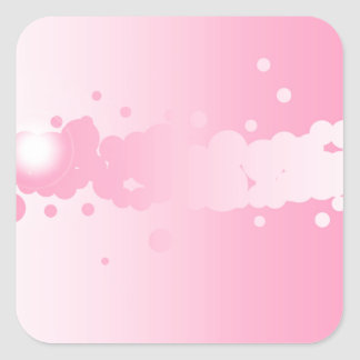 Abstract Pink Background Square Sticker