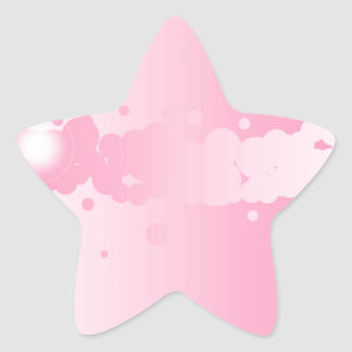 Abstract Pink Background Star Sticker