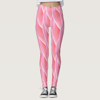 Abstract Pink Curly Wave Pattern #2 Leggings