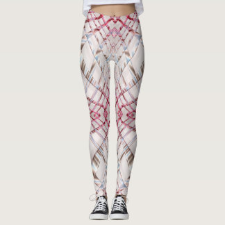 Abstract pink dynamic texture. leggings