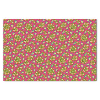 Abstract pink floral tissue paper