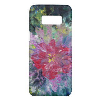 Abstract Pink Flower amongst a green background Case-Mate Samsung Galaxy S8 Case