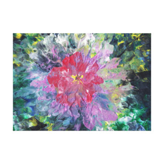 Abstract Pink Flower in a Garden Canvas Print