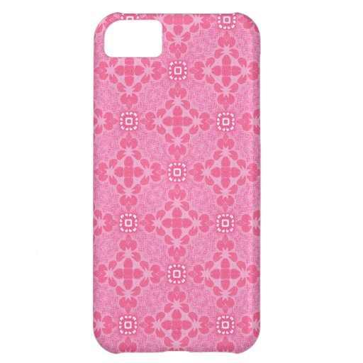 Abstract Pink Flowers Cover For iPhone 5C