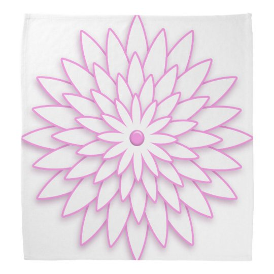 Abstract pink geometric flower. bandana