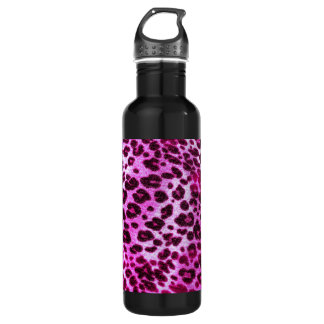 Abstract Pink Hipster Cheetah Animal Print 710 Ml Water Bottle
