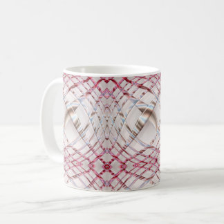 abstract pink irregular wavy dynamic pattern. coffee mug