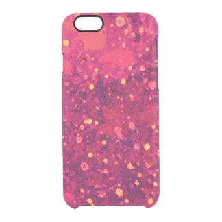 Abstract Pink Lemonade Paint Splatter Art Clear iPhone 6/6S Case
