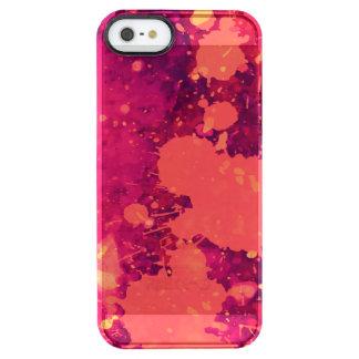Abstract Pink Lemonade Paint Splatter Art Clear iPhone SE/5/5s Case